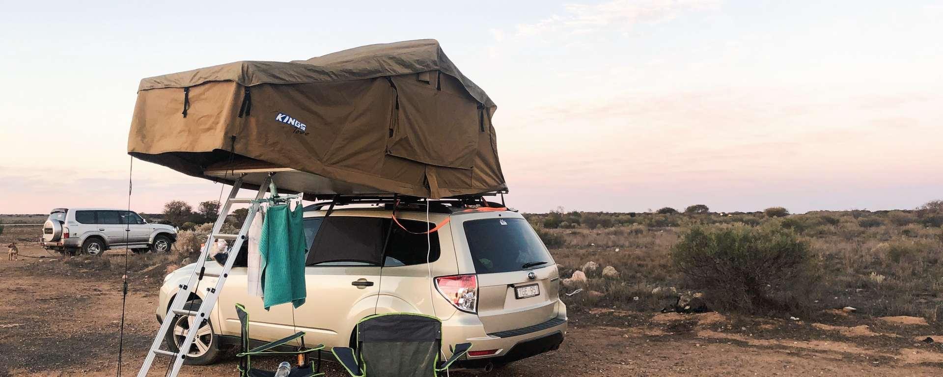 Adventure Kings Roof Top Tent types of campers in australia